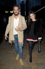 Faye Brookes and Gareth Gates enjoy a date night at Wood Restaurant in Manchester
