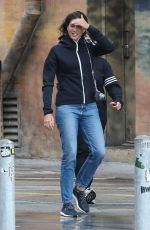 Garbine Muguruza Is seen doing a photoshoot on a rainy day in Venice Beach