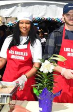 Garcelle Beauvais At Los Angeles Mission Easter Celebration
