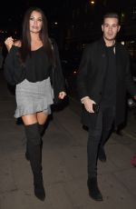 Jessica Wright Leaving The Hospital Club in Covent Garden, London