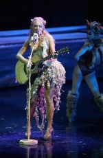 """Jewel Kilcher Dress rehearsal for """"One Night for One Drop"""" by Cirque du Soleil, Las Vegas"""