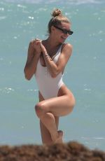 Josie Canseco and Bella Banos Enjoy a day on the beach together in Miami