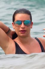 Lea Michele Has some fun and hits the beach in Hawaii