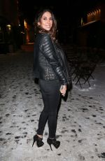 Leilani Dowding Arrives at the Whiskey & Spears launch at Shaku Zulu in London