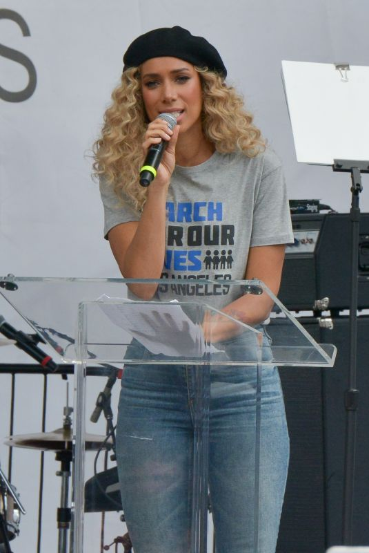 """Leona Lewis Attending the """"March For Our Lives"""" in downtown Los Angeles"""