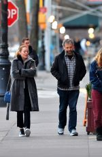 Leslie Mann Is spotted stepping out on her 46th birthday with family in New York City