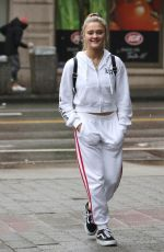 Lizzy Greene Steps out in an all white tracksuit as she strolls around Vancouver