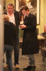 Matt Smith and Lily James enjoy an outing at the Sunset Marquis with friends in Los Angeles
