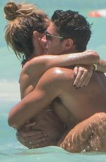 Megan McKenna and Mike Thalassitis In bikini On Barbados