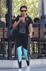 Michelle Keegan Having breakfast in Los Angeles after a workout