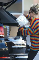 Miley Cyrus On a trip to Party City in Porter Ranch