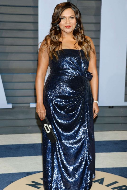 Mindy Kaling At 2018 Vanity Fair Oscar Party in Beverly Hills