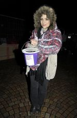 Nicola Thorp Sleeping on the street with hundreds of others, in aid of the Street Life Charity in Blackpool, UK
