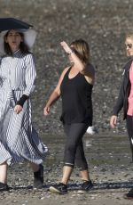 Nigella Lawson Covers up on a sunny day at the beach in Auckland, New Zealand