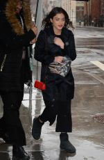 Odeya Rush Steps out in a snowstorm in New York
