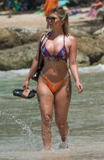 Olivia Buckland As she enjoy on the beach in Barbados