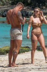 Olivia Buckland As she enjoyed another sun-soaked day in Barbados