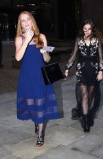 Patsy Palmer and her daughter Emilia pictured leaving the Devonshire Club Hotel - London