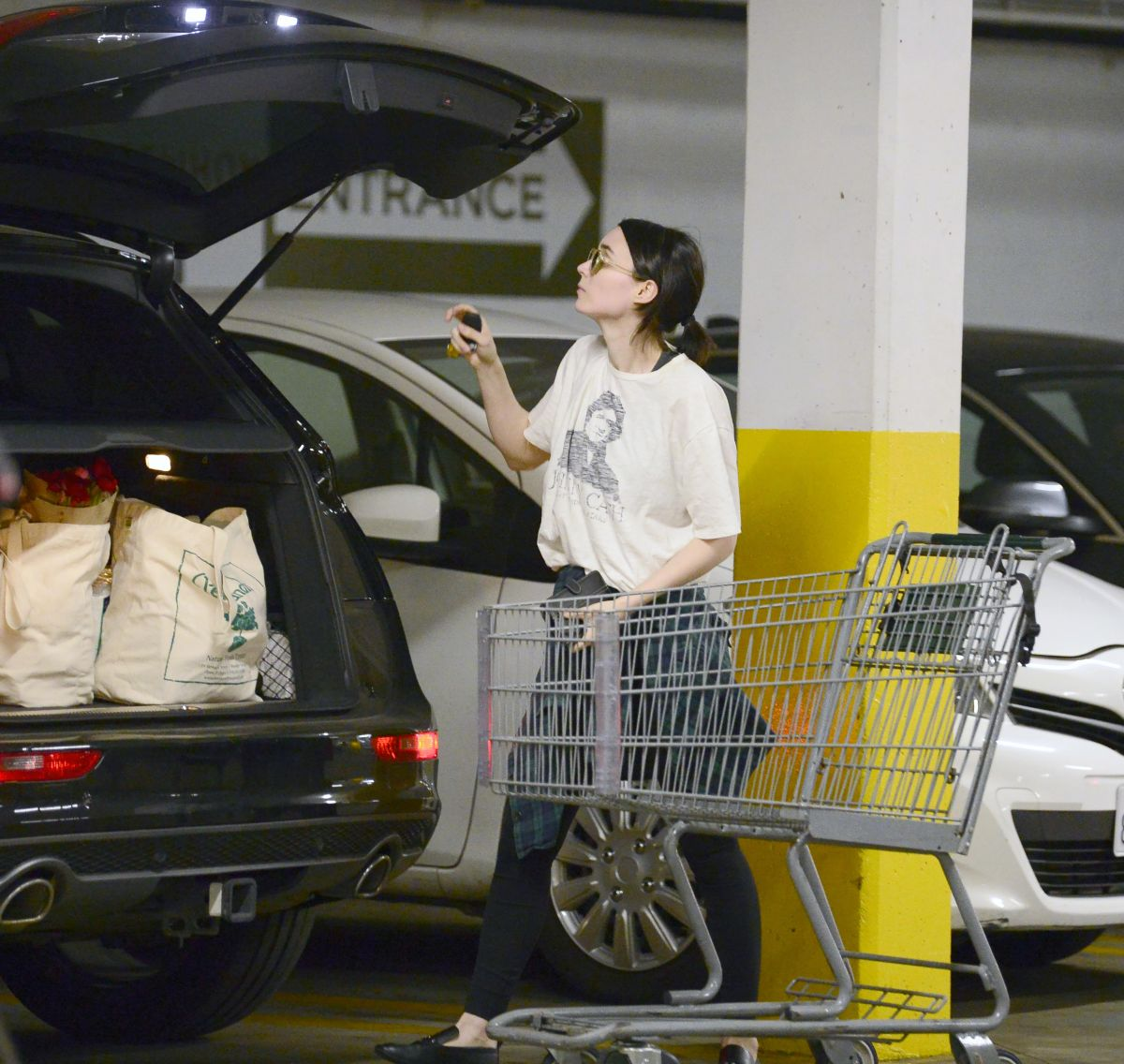 Los Angeles Supermarket: Rooney Mara Is Spotted Grocery Shopping At A Health Food
