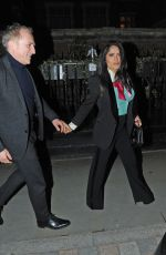 Salma Hayek Spotted with her husband Francois-Henri Pinault at the popular celebrity haunt the Chiltern Firehouse in London