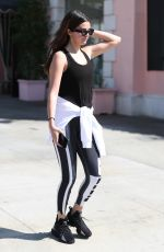 Selena Gomez Makes a stop at Sweetgreen and Tocoya restaurant after her pilates class in West Hollywood