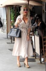 Sophia Vegas Wollersheim Grabs lunch at Il Pastaio in Beverly Hills