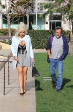 Sophia Vegas Wollersheim Shows off her cleavage while out with a friend in the 90210 area of Beverly Hills