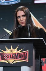 Stephanie McMahon At the WWE Wrestlemania 35 Press Conference in East Rutherford