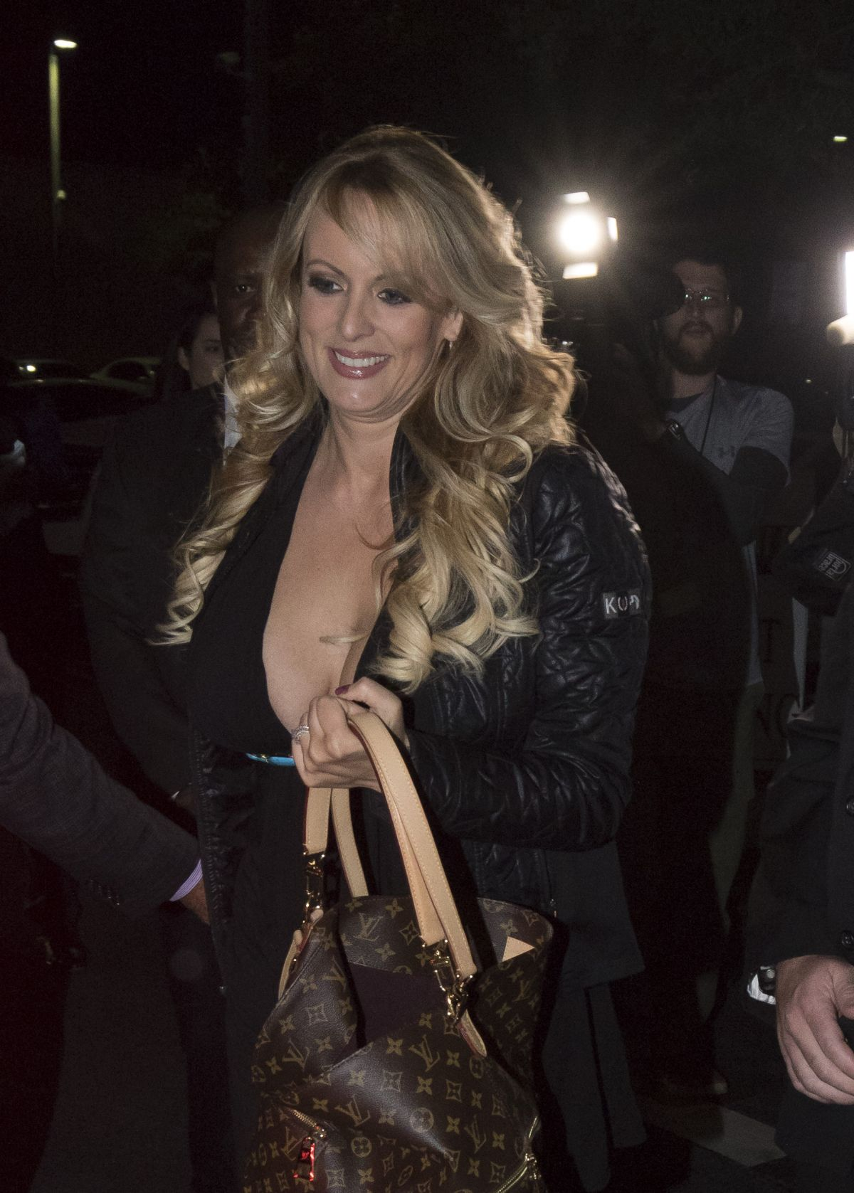 leather Stormy daniels
