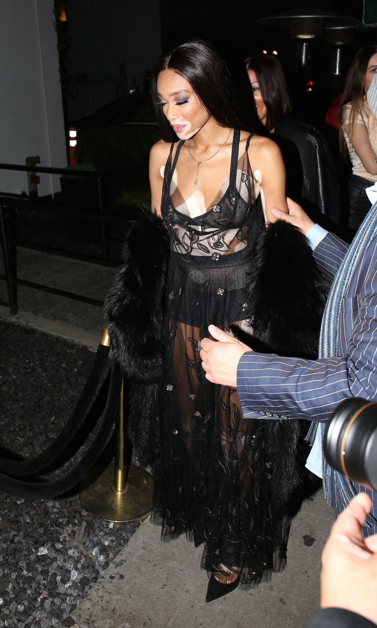 Winnie Harlow Sports Sheer As She Is Spotted Arriving