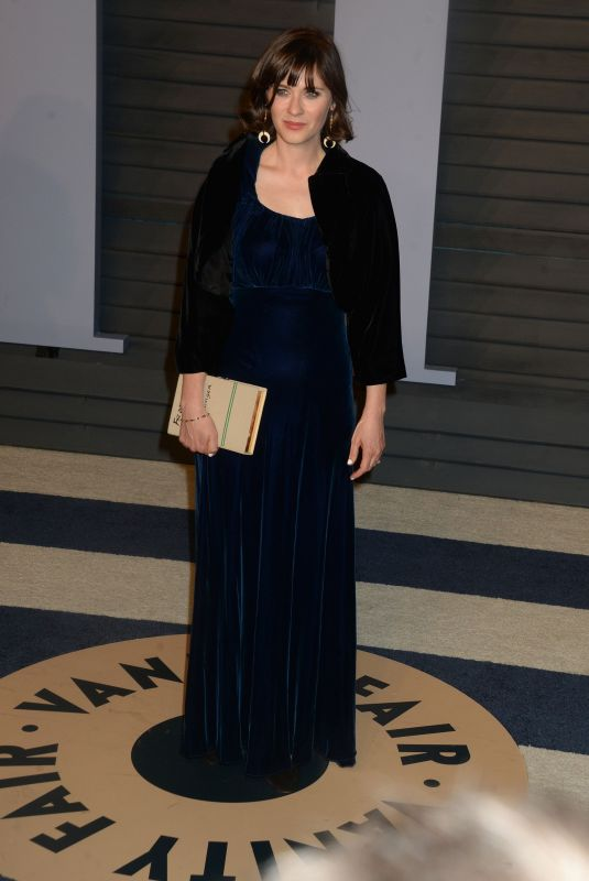 Zooey Deschanel At 2018 Vanity Fair Oscar Party hosted by Radhika Jones in Beverly Hills