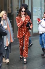 Abigail Spencer Leaves Sirius XM offices in Manhattan