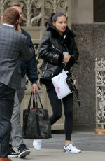 Adriana Lima Seen doing a Maybelline commercial in New York City