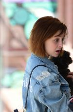 Alessandra Torresani Out and about with a new red hair color in Los Angeles