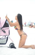 Andrea Calle Spends the day on Miami Beach