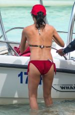 Andrea Corr Enjoys a fun filled day on the beach in Barbados