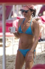 Andrea Corr In a blue bikini while on holiday in Barbados
