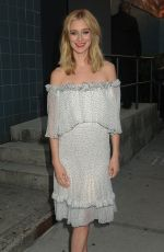 Caitlin Fitzgerald Is all smiles after departing the SVA Theatre in NYC