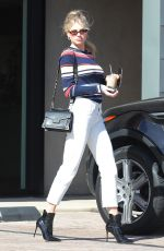 Charlotte McKinney Was spotted after returning from a busy weekend at Coachella grabbing coffee with a friend in Malibu