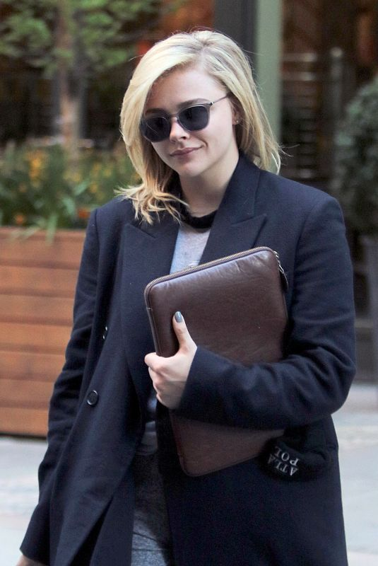 Chloe Grace Moretz Leaves a downtown hotel in New York City