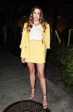 Christa B. Allen Leaving The DUNDAS Traveling Flagship cocktail party, Los Angeles