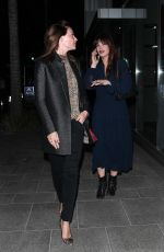 Claire Forlani Is spotted out for dinner with a friend at Avra in Beverly Hills