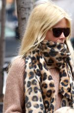 "Claudia Schiffer and her kids out for a walk in the ""Big Apple"" in NYC"