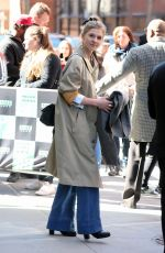 Clemence Poesy Leaves Build Series in New York City