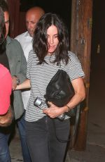 Courteney Cox Seen leaving Largo at the Coronet with a mystery man in Beverly Hills