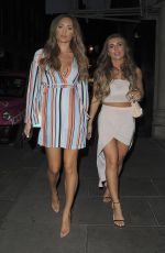 Danni Dyer and Georgie Clarke Leaving Cipriani in Mayfair, London, England
