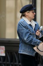 Diane Kruger Walks to the gym in New York City