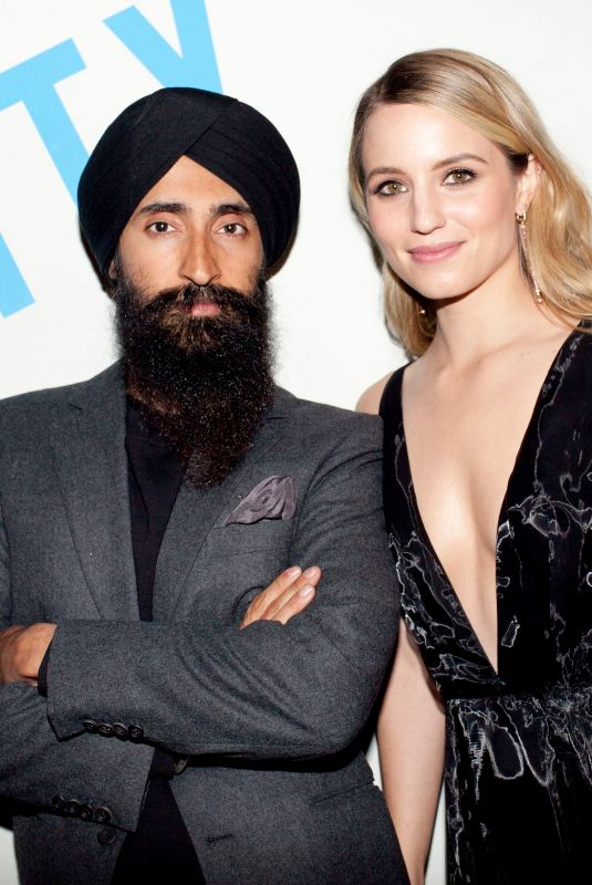 Dianna Agron At Free Arts NYC Honors Legendary Conceptual Artist Lawrence Weiner in NYC