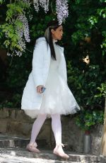 Eiza Gonzalez On set TV series Paradise Hills and in costume filming in Barcelona