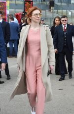Eleanor Tomlinson At Grand National Day during the 2018 Aintree Festival in Liverpool